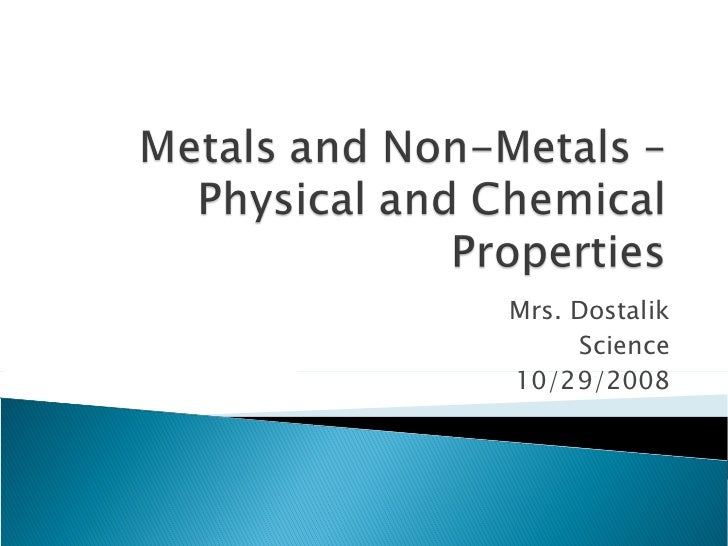 Metals And Non Metals – Physical And Chemical Properties
