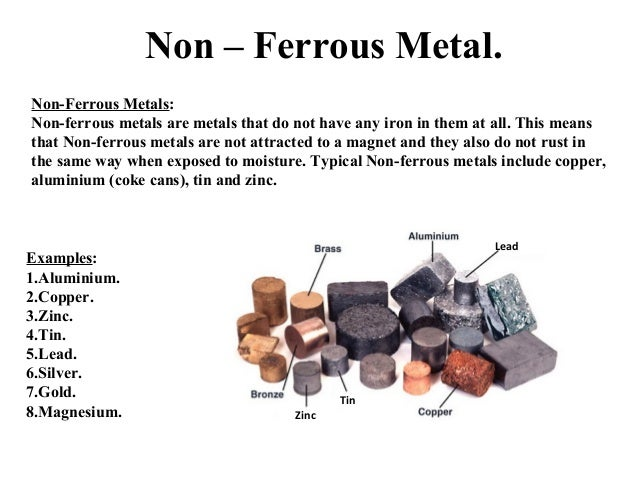 ferrous alloys This lecture introduces various non-ferrous materials such as aluminium, titanium, zinc, copper, nickel, cobalt and their alloys.