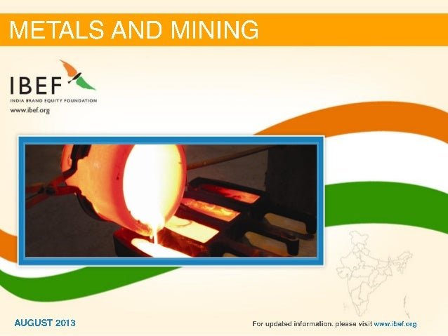 India : Metals & mining Sector Report_August 2013