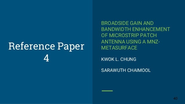 thesis on microstrip patch antenna using metamaterial A survey on microstrip patch antenna using metamaterial microstrip antenna using metamaterial and comparison of a metamaterial based patch antenna with a.