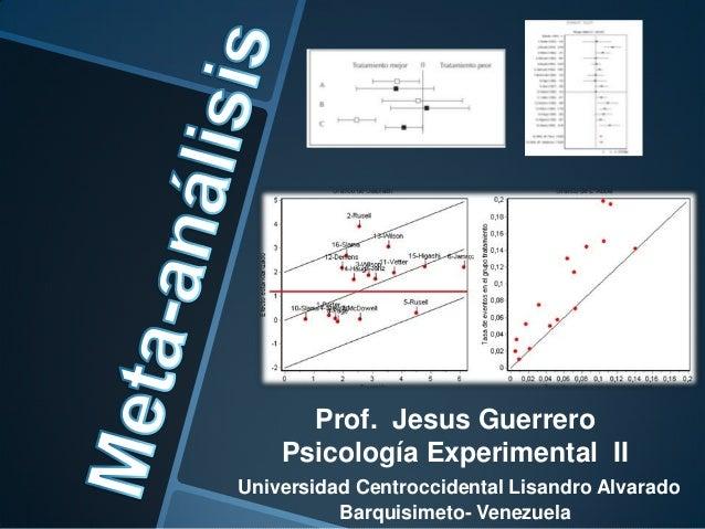 Prof. Jesus Guerrero Psicología Experimental II Universidad Centroccidental Lisandro Alvarado Barquisimeto- Venezuela
