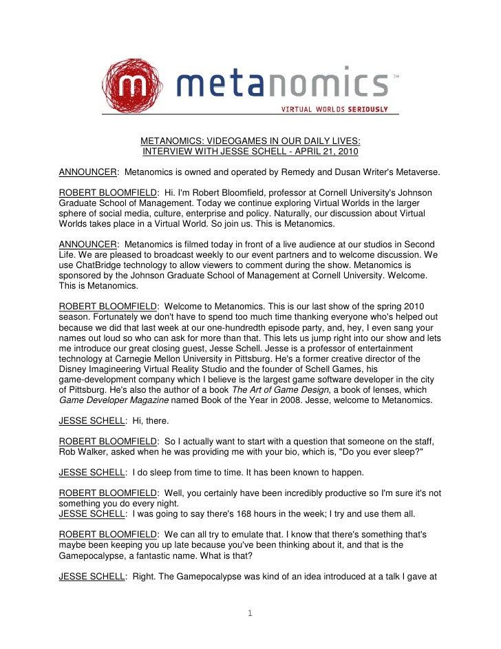 Metanomics transcript april 21 2010