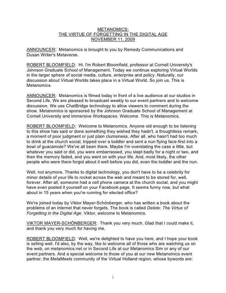 Metanomics Transcript Nov 11