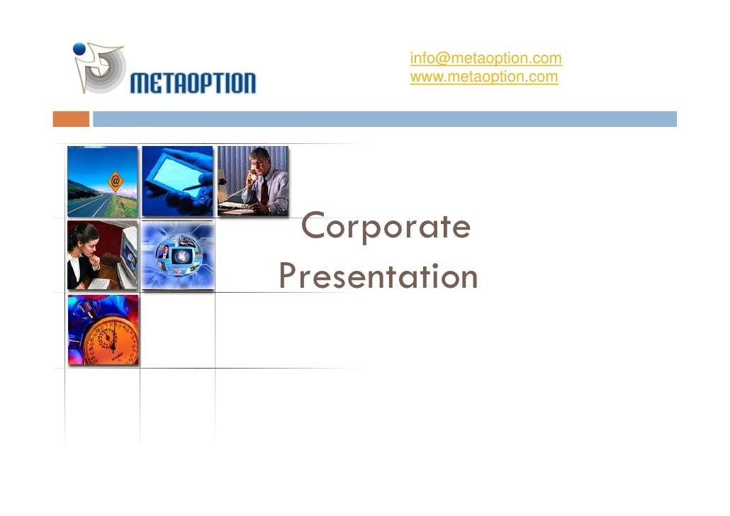 Meta Option Corporate