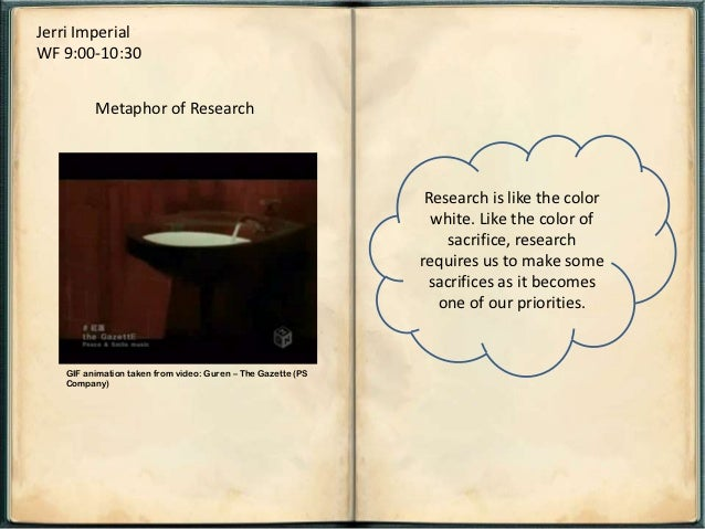 Jerri ImperialWF 9:00-10:30         Metaphor of Research                                                              Rese...