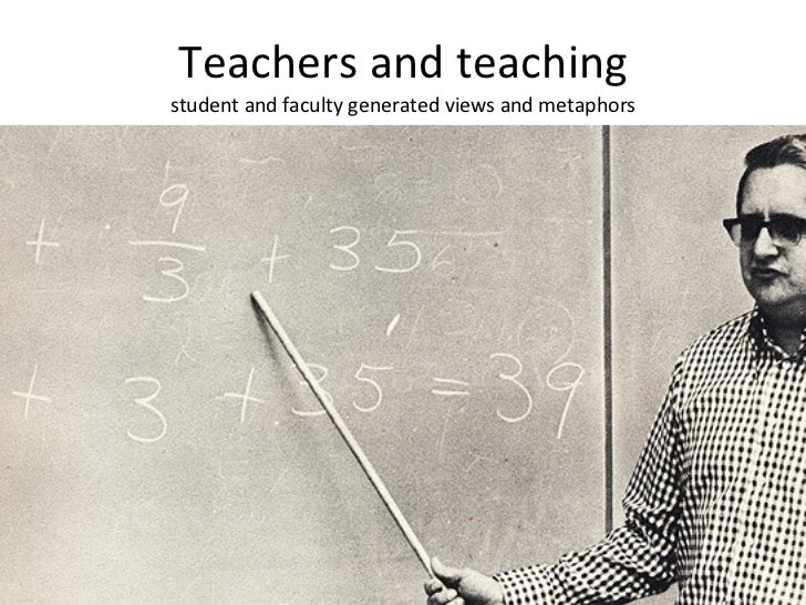 Teachers and teaching student and faculty generated views and metaphors