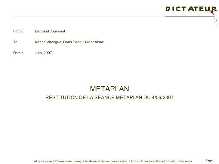 <ul><li>From : Bertrand Jouvenot </li></ul><ul><li>To : Karine Virengue, Doris Pang, Olivier Aisac </li></ul><ul><li>Date ...