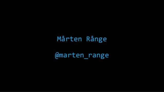 Mårten Rånge @marten_range