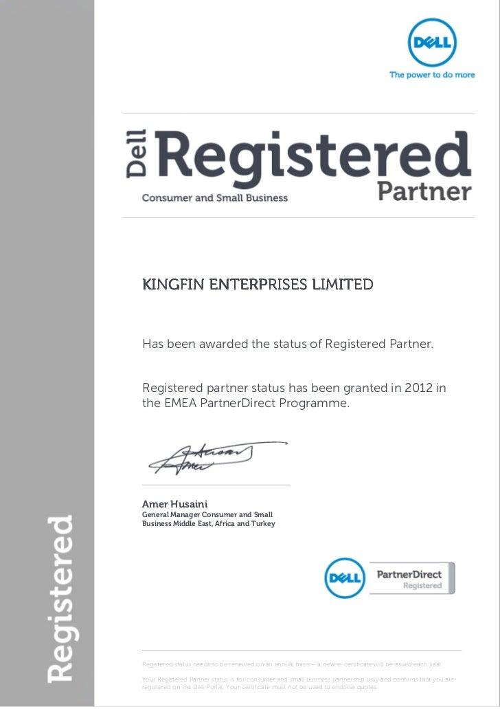 Dell Partner Letter