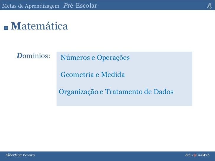 Metas de Aprendizagem para a Educação Pré-escolar. Slide-4-728