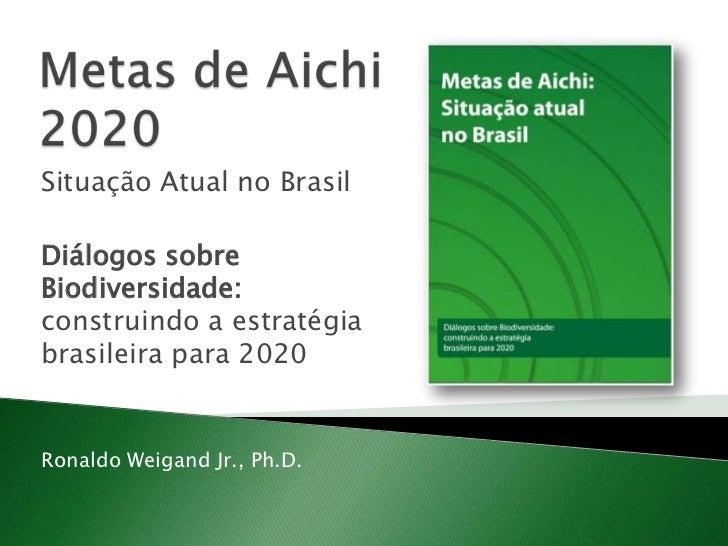 Metas de Aichi 2020<br />Situação Atual no Brasil<br />Diálogos sobre Biodiversidade: construindo a estratégia brasileira ...