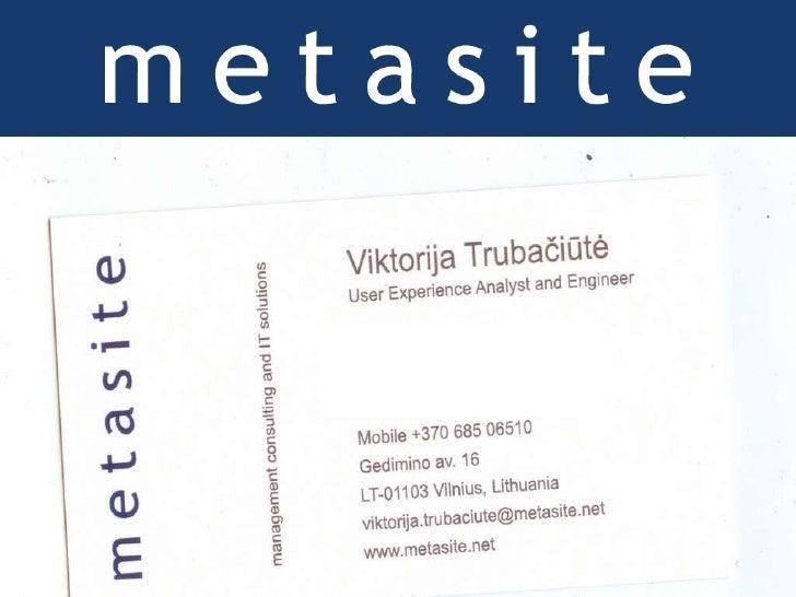 Metasite: User Experience Design