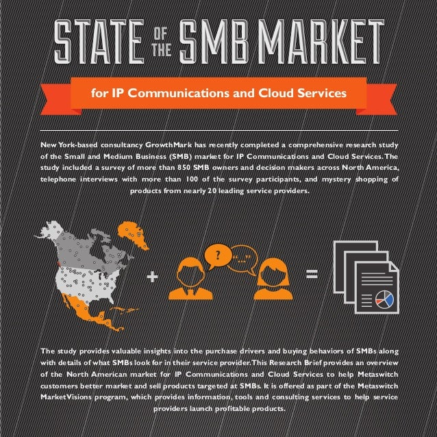 STATE SMBMARKETSTATE SMBMARKETof the for IP Communications and Cloud Services NewYork-based consultancy GrowthMark has rec...
