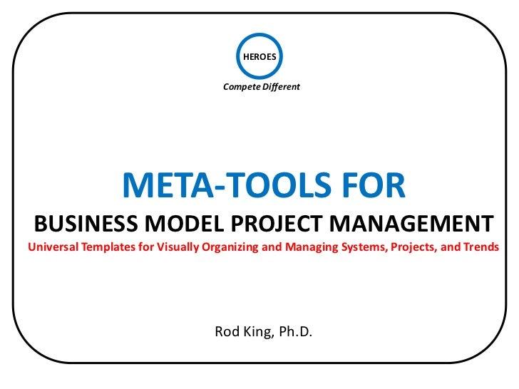 Meta-Tools for Business Model Project Management: Visually Organizing and Managing Systems, Projects, and Trends