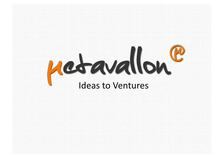 Ideas to Ventures