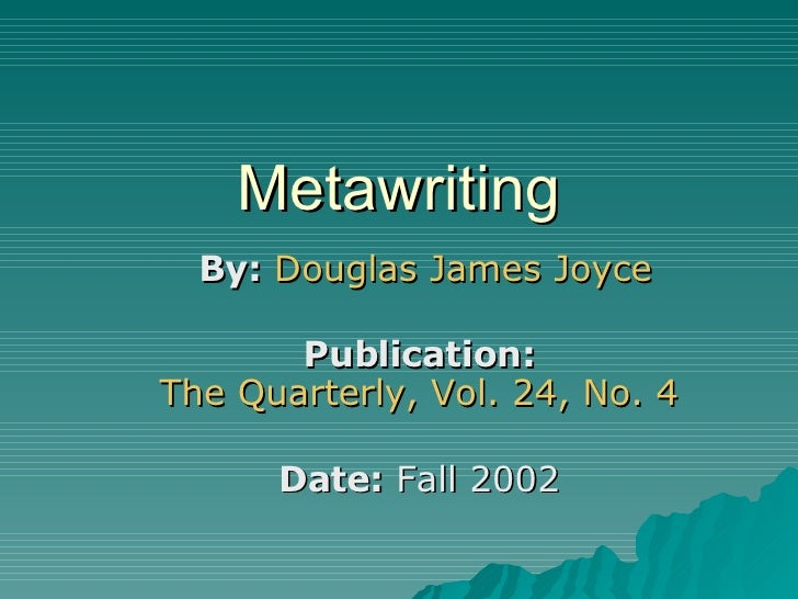 Metawriting