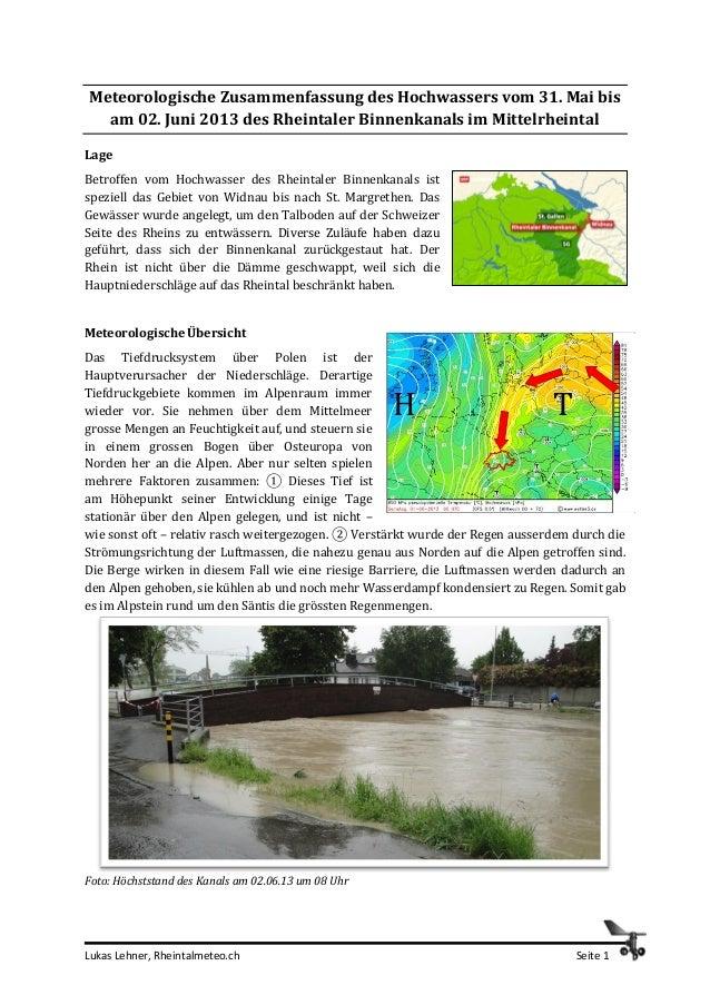 Lukas Lehner, Rheintalmeteo.ch Seite 1Meteorologische Zusammenfassung des Hochwassers vom 31. Mai bisam 02. Juni 2013 des ...