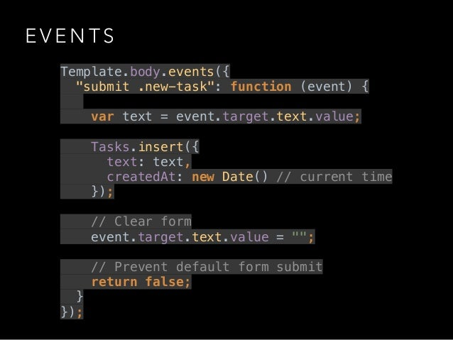 Template Body Events Events Template.body.events({