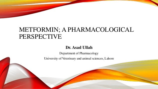 METFORMIN; A PHARMACOLOGICAL PERSPECTIVE Dr. Asad Ullah Department of Pharmacology  University of Veterinary and animal sc...