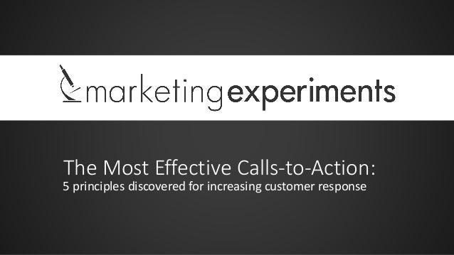 The Most Effective Calls-to-Action: 5 principles discovered for increasing customer response