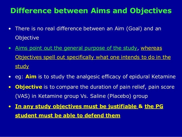 thesis aims and objectives example
