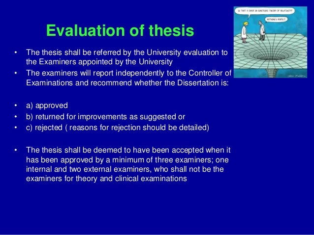 Write my ph d thesis evaluation report