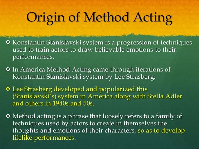 how to become a method actor