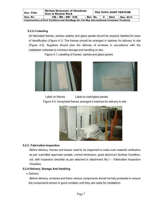 Photos of Method Statement For Installation Of Aluminium Doors  sc 1 st  Aluminium Doors - Blogger & Aluminium Doors: Method Statement For Installation Of Aluminium Doors