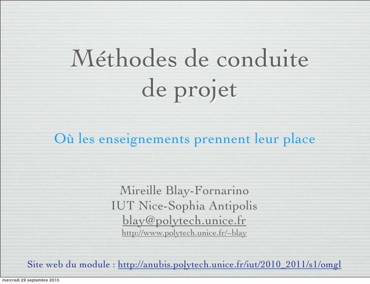 Methodes de gestion de projets - introduction au processus unifié
