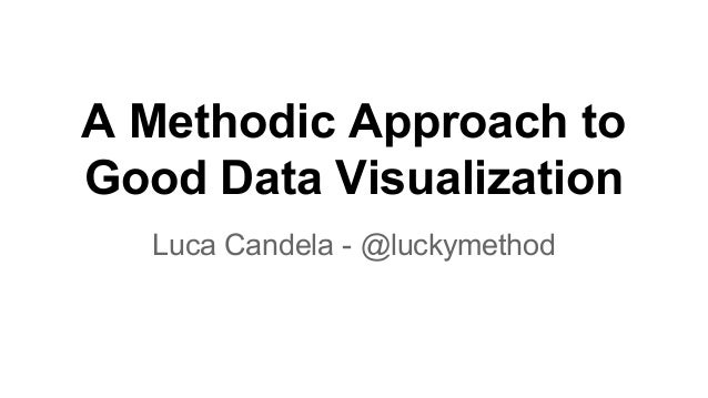 A Methodic Approach to Good Data Visualization Luca Candela - @luckymethod
