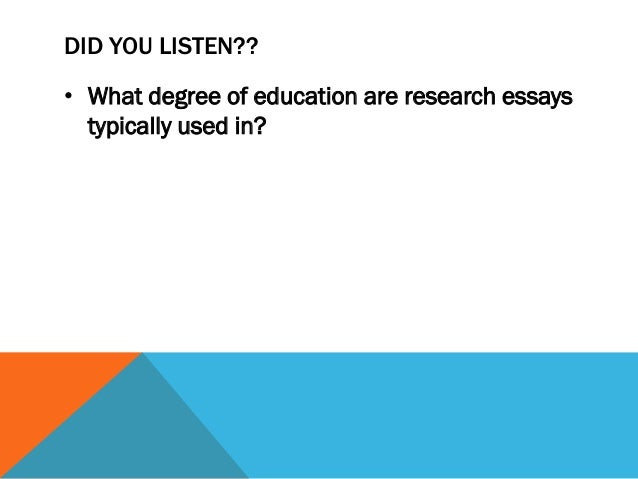 What are the purposes of essays?