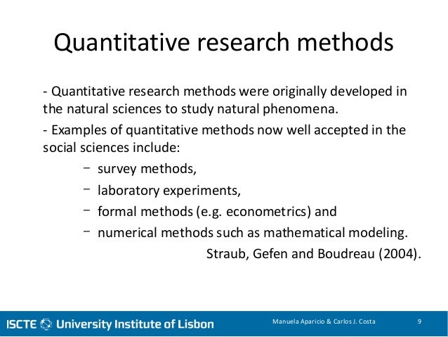 example of methodology research