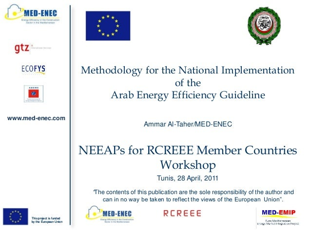 Methodology for the National Implementation                                                  of the                       ...