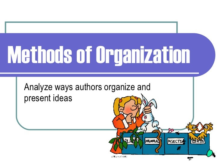 Organization methods for essays