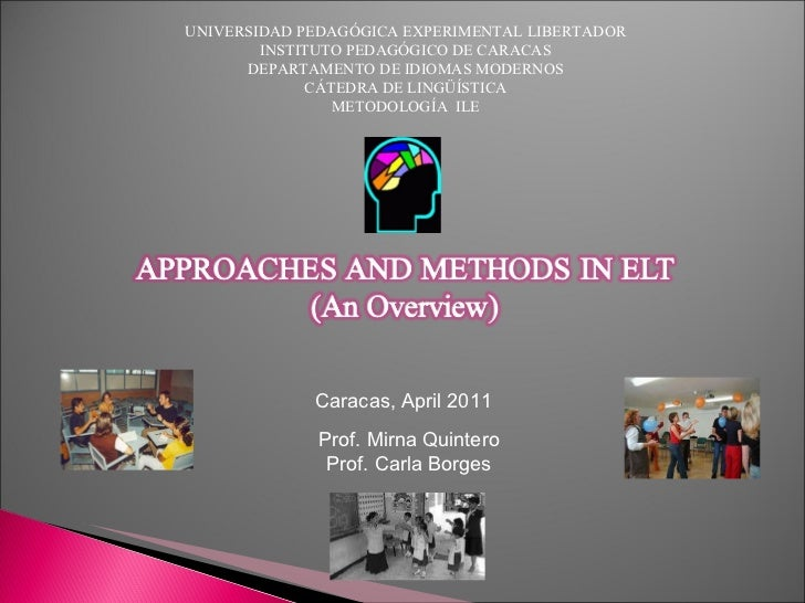Methods and Approaches (Introduction to the course)