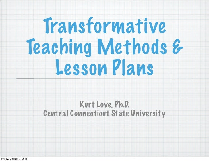 Transformative Lesson and Unit Planning 2011