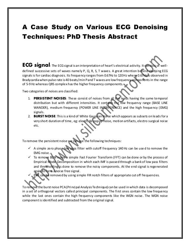 Abstract of phd thesis