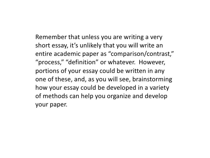 methods of organizing your essay