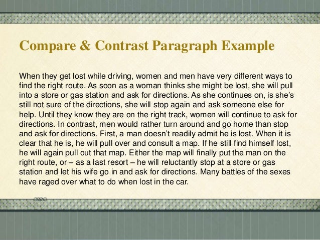 "good introduction paragraph for compare and contrast essays How to write a compare and contrast essay a good compare/contrast essay doesn't only point out paragraph form,"" with an introduction, 3 body paragraphs."