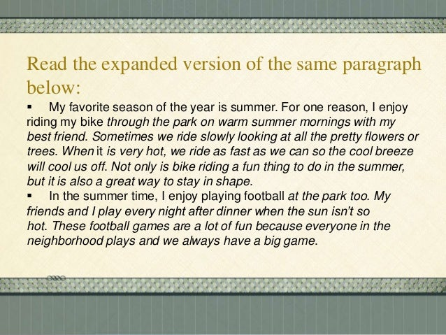 essay on my favourite season