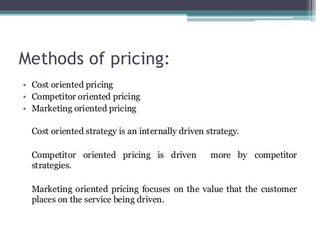 importance of costs in pricing strategy Pricing is one of the key components of a successful marketing mix pricing objectives, strategies, and tactics cannot stand alone, however to be effective, price must work in harmony with other marketing and management activities despite its importance, use of pricing as a management tool is.