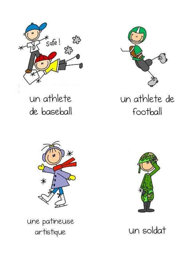 un athlete de football un soldat une patineuse artistique un athlete de baseball