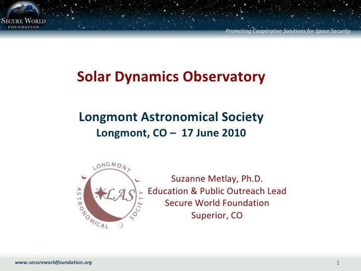 Solar Dynamics Observatory_June 2010
