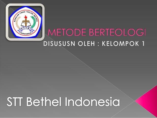 Metode berteologi