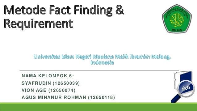 Metode fact finding & requirement