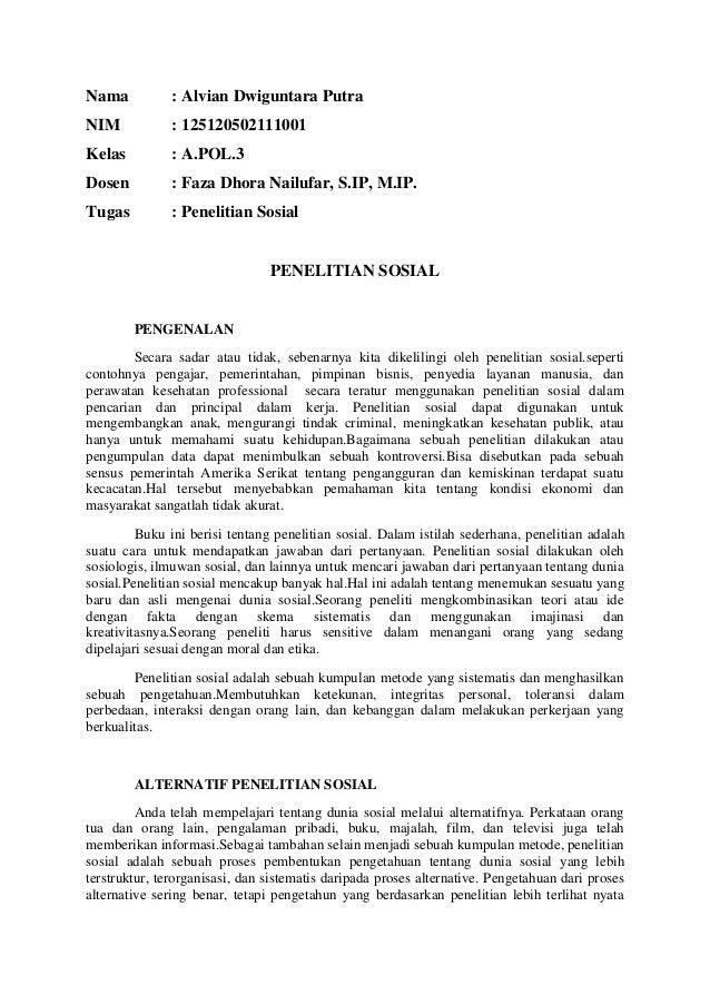 Nama : Alvian Dwiguntara Putra NIM : 125120502111001 Kelas : A.POL.3 Dosen : Faza Dhora Nailufar, S.IP, M.IP. Tugas : Pene...