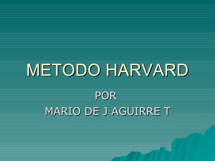 Metodo Harvard 1