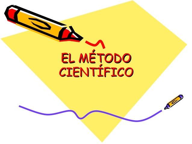 EL MÉTODOEL MÉTODO CIENTÍFICOCIENTÍFICO