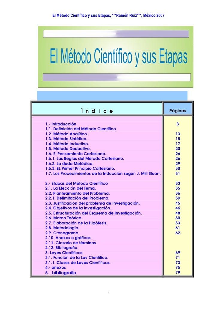 Metodo cientifico y sus etapas