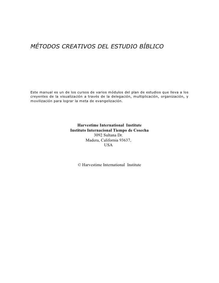 Metodo creativo del estudio biblico
